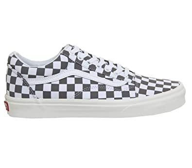b1a3003a29 Vans Hommes Pewter Gris Marshmallow Old Skool Basket  Amazon.fr ...