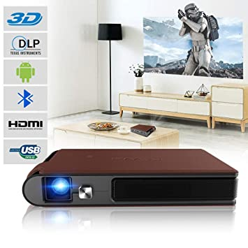 Proyector de vídeo HD Mini Proyector Cine en casa DLP Pico ...