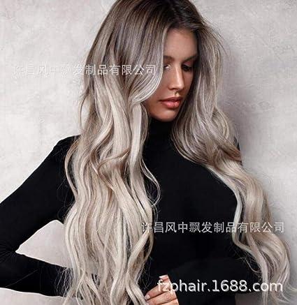 CXQ Europa y América peluca tinte degradado pelo largo y ...