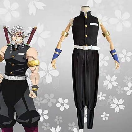 Anime Demon Slayer Kimetsu No Yaiba Uzui Tengen Men Cosplay Costume Halloween Dress Up Party Sleeveless Uniform Suit Amazon Ca Sports Outdoors Demon slayer uzui tengen 2 style white cosplay wigs no headwear. anime demon slayer kimetsu no yaiba