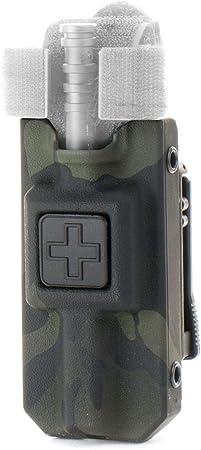 Eleven 10 Rigid TQ Case for C-A-T Tourniquet, Multicam Black, Belt Attachment
