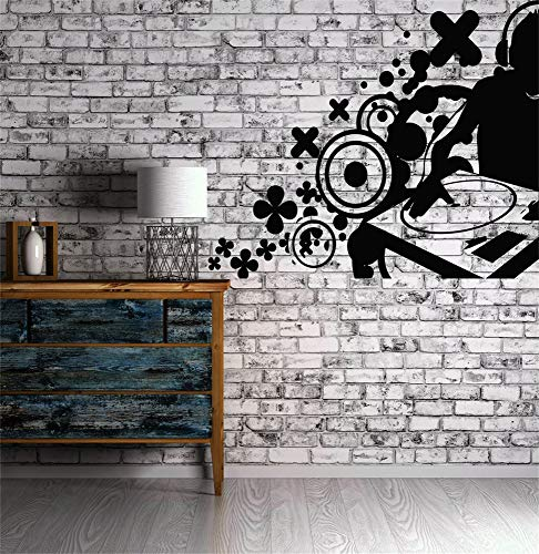 dinita Vinyl Peel and Stick Mural Removable Decals Dj House Pop Hip Hop Artist Rap -