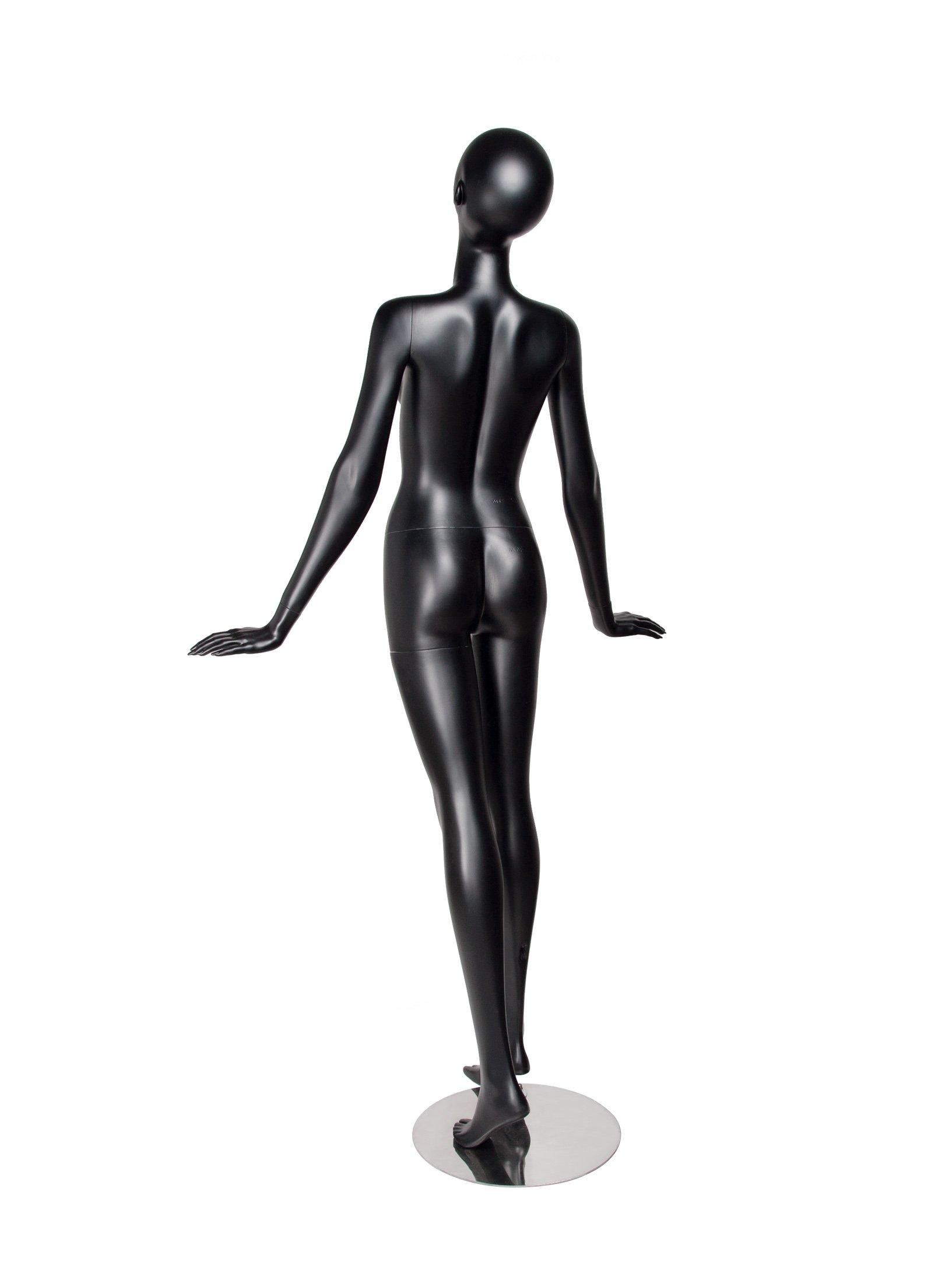 Newtech Display MAF-S2-EGG9/BLK (EGG9) Egg Female Mannequin, Matte Black by Newtech Display (Image #3)