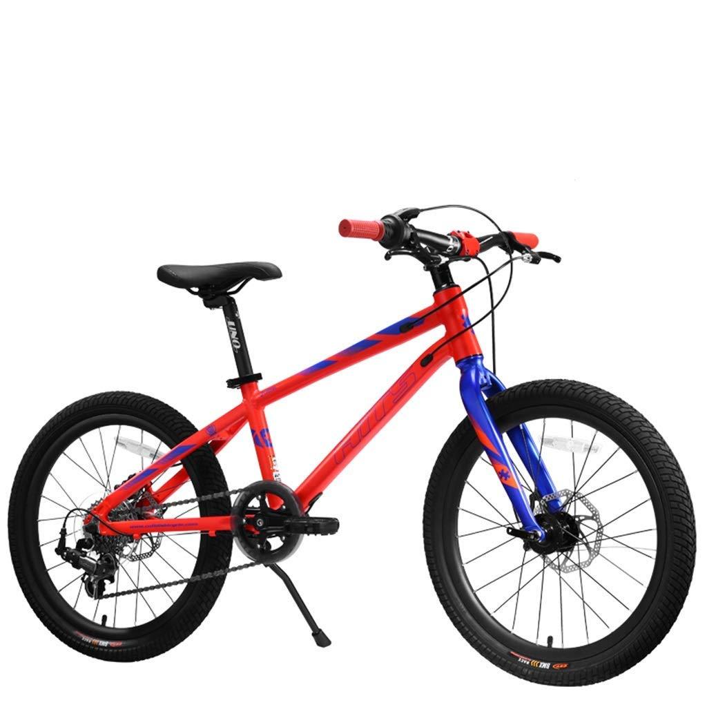 ETZXC Kinder Competition Bike Marathon Fahrrad Outdoor Kinder Mountainbike Geeignet für Jungen und Fitness-Übungsauto 7 Geschwindigkeit Rot 20inch