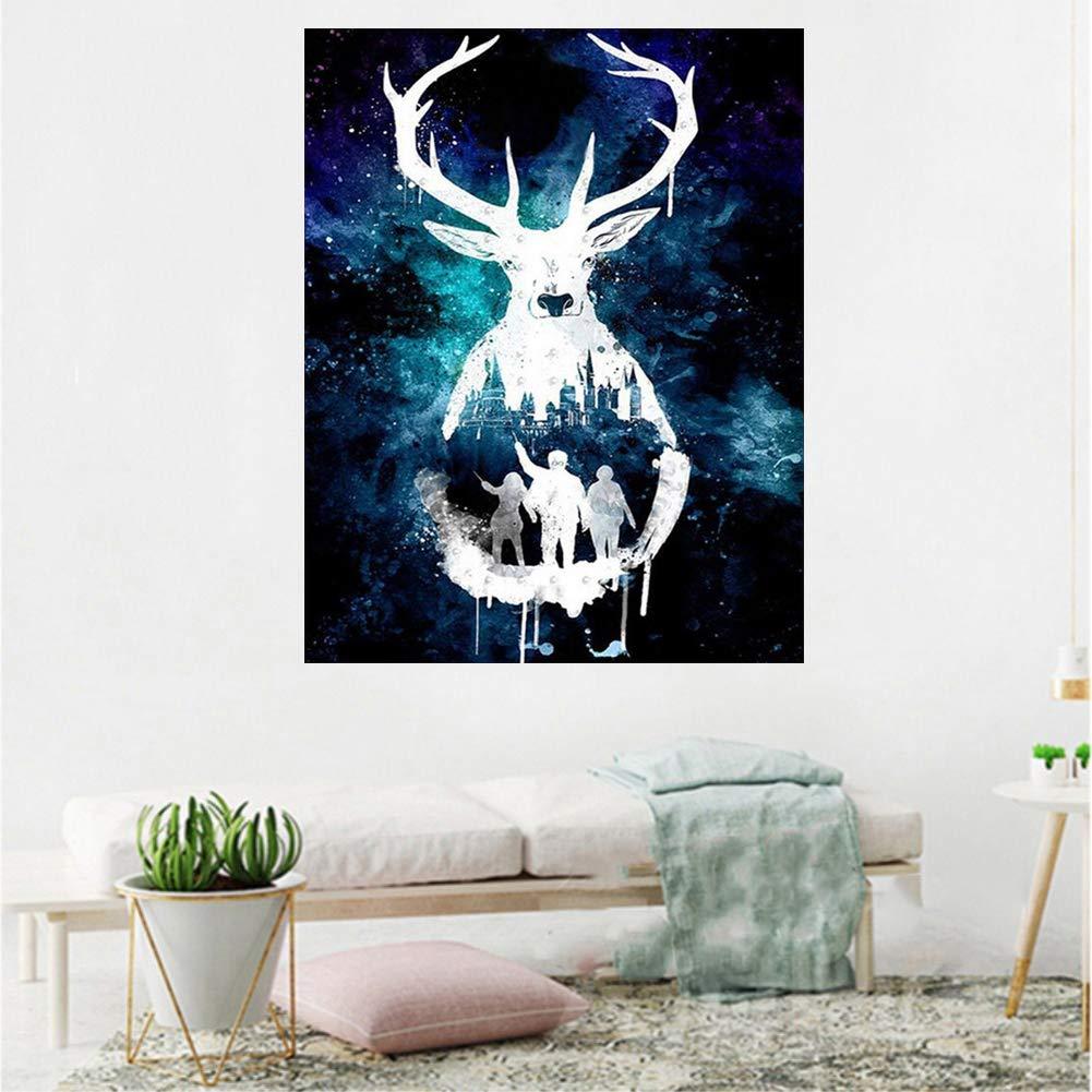 narutosak Diamond Painting 30x40cm Harry Potter Deer Starry Sky Full Drill Resin DIY Decor