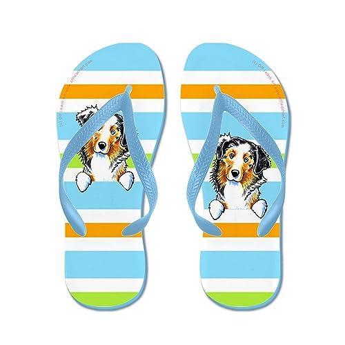 bf6de54c3eaf Amazon.com  CafePress - Australian Shepherd Uptown Stripes - Flip ...