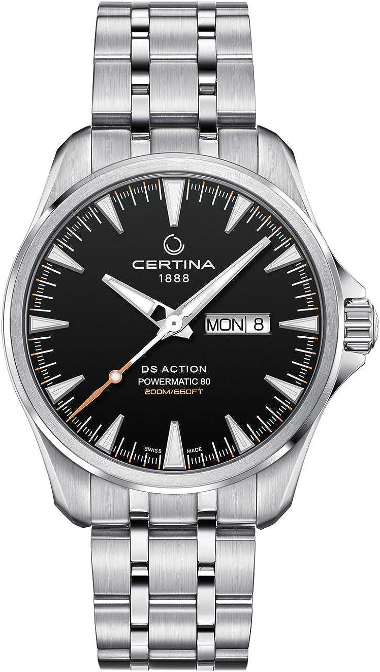Certina DS Action C032.430.11.051.00 - Reloj automático para Hombre, Esfera Negra
