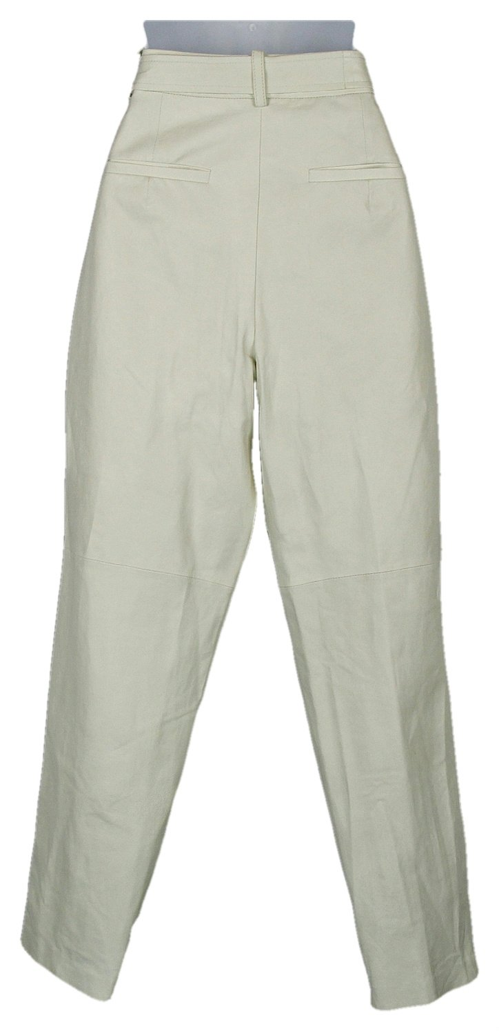 J Crew Collection Leather Pants in White with D Ring Sz 6 Style C5650 by Madewell (Image #2)