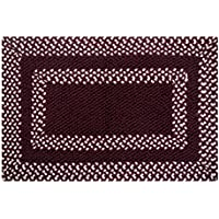 Better Trends Hercules Braided and Hand-Woven Rug, 21 by 34-Inch, Burgundy