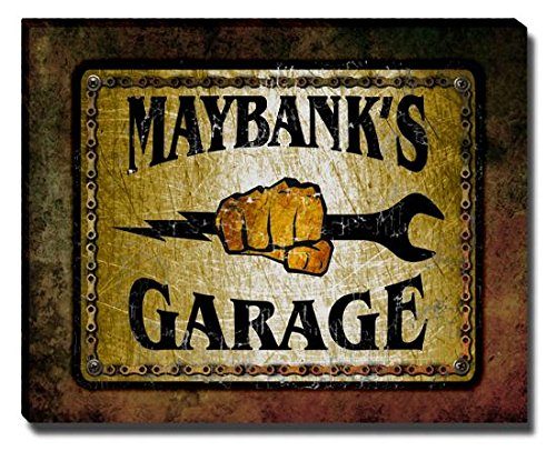 maybanks-garage-stretched-canvas-print