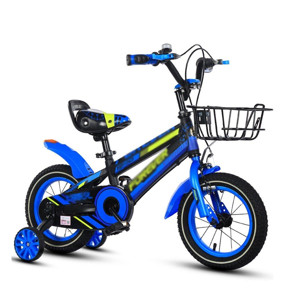 赤ちゃんの女の子の子供の自転車子供の自転車の男の子の赤ちゃんのペダルの自転車2-10歳の黄色の赤い青 B07DTZJD7T 16 inch|青 青 16 inch
