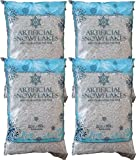 Snow Artificial Flakes 2 Oz Bag Blue Printed Polybag 4 Pack