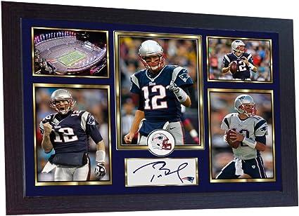 Tom Brady Julian Edelman Rob Gronkowski Patriots Signed Photo Autograph Reprint