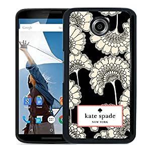 New Fashion Custom Designed Kate Spade Cover Case For Google Nexus 6 Black Phone Case 30
