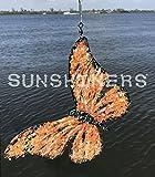 Butterfly, Orange, Black, Glass, Glitter, Light, Mirror, Copper, Sparkle, Shimmer, Reflect, Sun, Shine, Sunshiners, Suncatchers, Spin, Hang