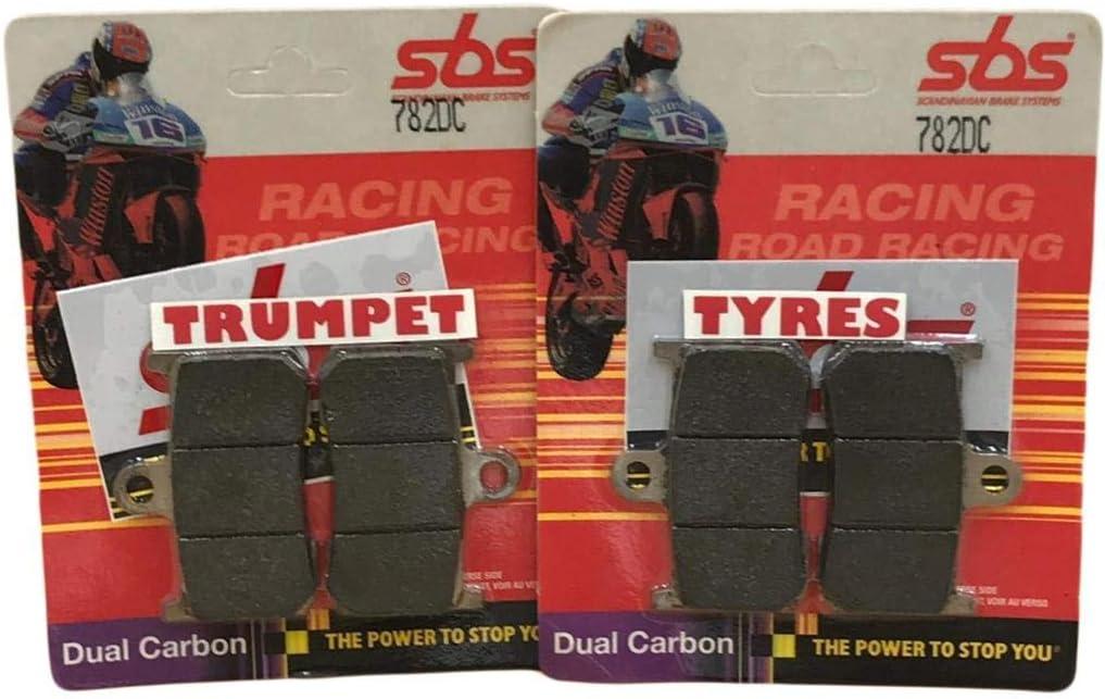 Jefe Indio Oscuro Caballo 1800 15 16 17 18 19 SBS Rendimiento Frente Dual Carbono Carrera Pastillas de Freno Set Original OE Calidad 782DC