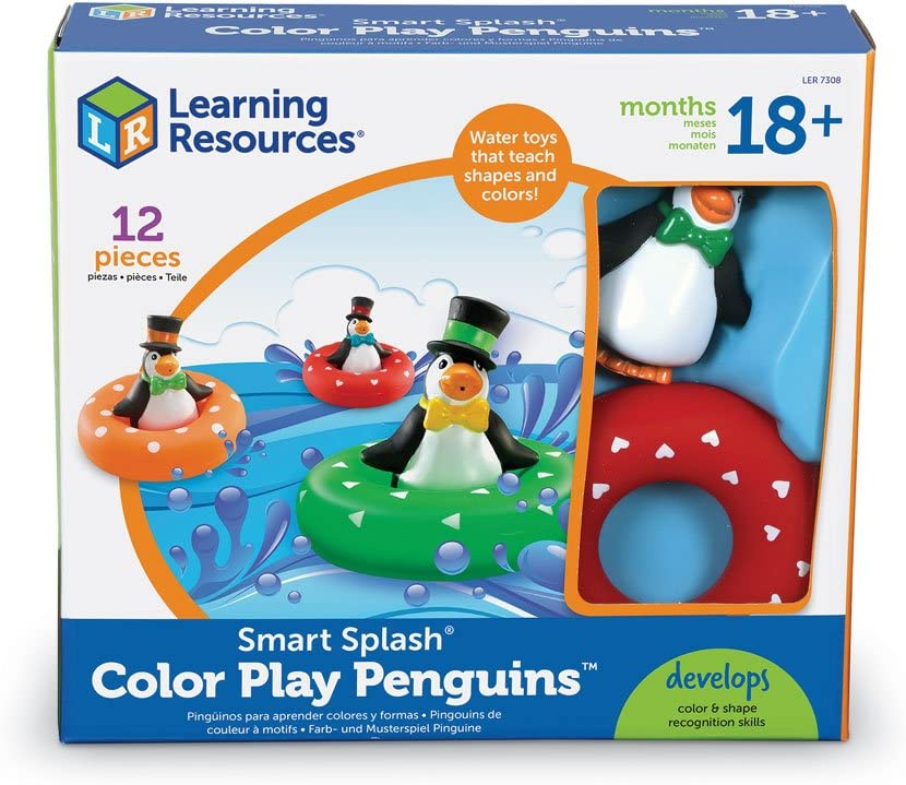 Learning Resources Jouets De Bains Color/és En Forme De Pingouins De