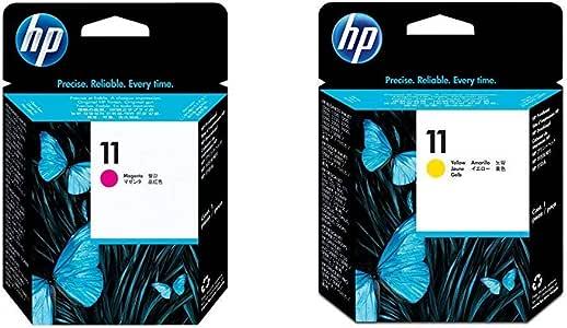 HP C4812A Cabezal de impresión HP 11 + C4813A Cabezal de impresión HP 11, Amarillo: Amazon.es: Oficina y papelería