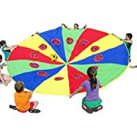 KINDEN Parachute for Kids Play Parachutes Indoor & Outdoor Gymnastics Team Building Activity and Group Toys