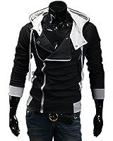 Men Boys Desmond Miles Hoodie Jacket Cosplay Costume Up Hoodie (EU M (day XL), black)