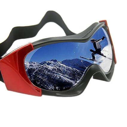 6524b49af69 Vhccirt Ski Goggles 100% UV Protection Polarized PC Lens Unisex OTG  Snowboard Parachute Jumping