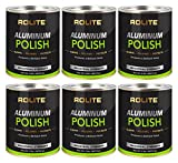 Rolite Aluminum Polish (2lb) for All Aluminum & Bare Metal Surfaces, Canoes, Jon Boats, Pontoons, Diamond Plate, Aluminum Non-Coated Wheels 6 Pack