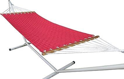 Oak N Oak 55 Wide Soft weave quilted hammock - Red
