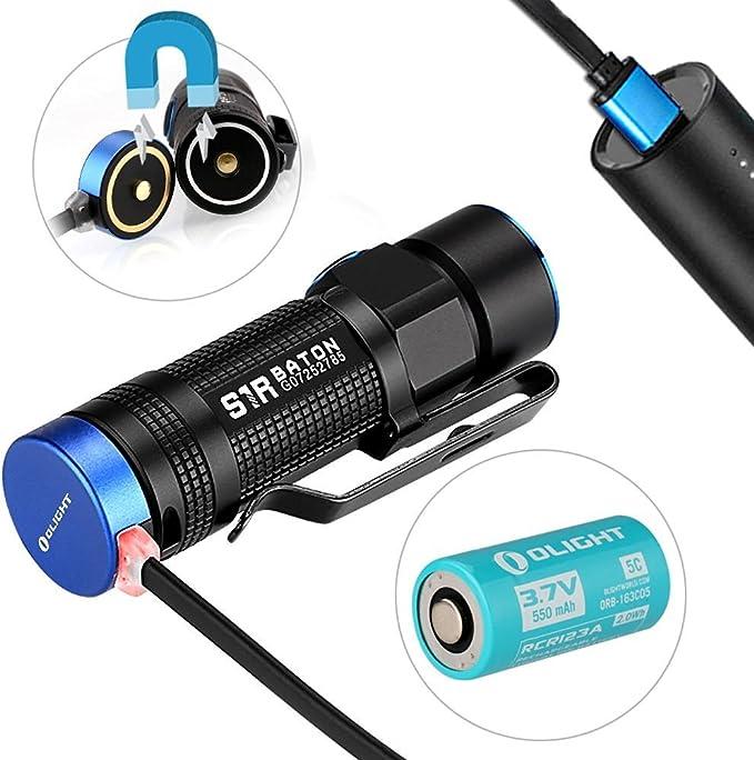 Olight® S1R Baton Linterna Recargable del LED con el Cree XM-L2 CW ...