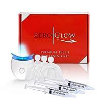 Zero Glow Teeth Whitening Kit Carbamide Peroxide Syringes, LED Light, Custom Moldable...