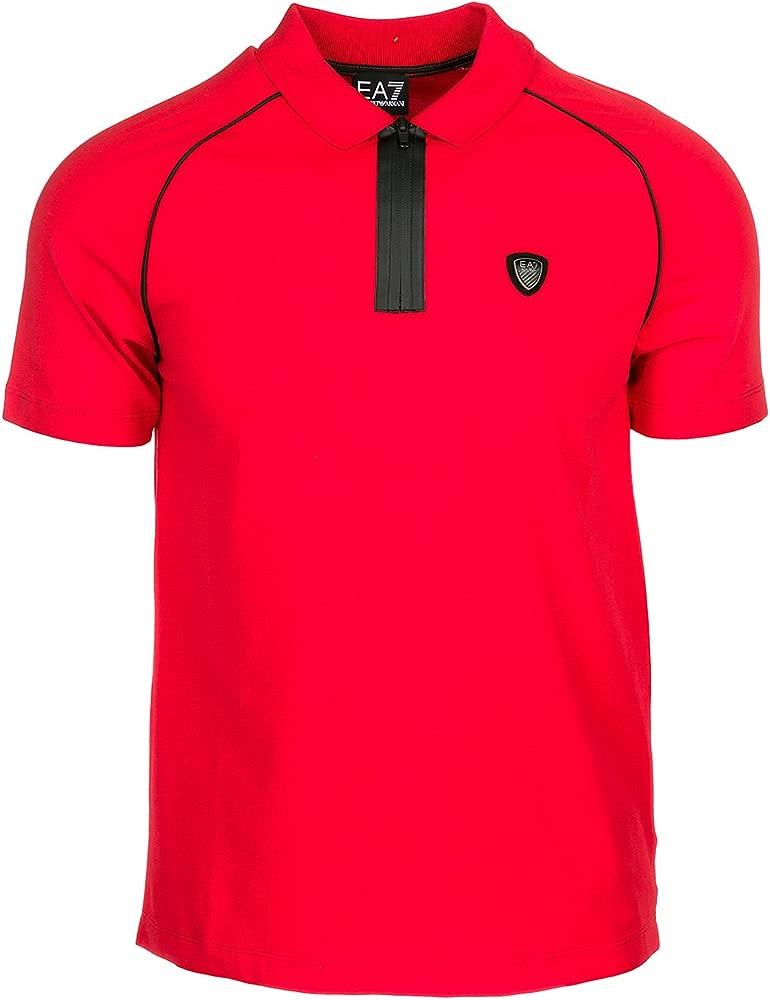 Emporio Armani Polo - Para Hombre Rojo M: Amazon.es: Ropa y accesorios