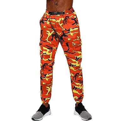 Pantalones para Hombre, Hombres Moda Camuflaje Bolsillo Overoles ...