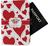 Cute Squirrel Couple Passport Holder - Fabric (Personalized)