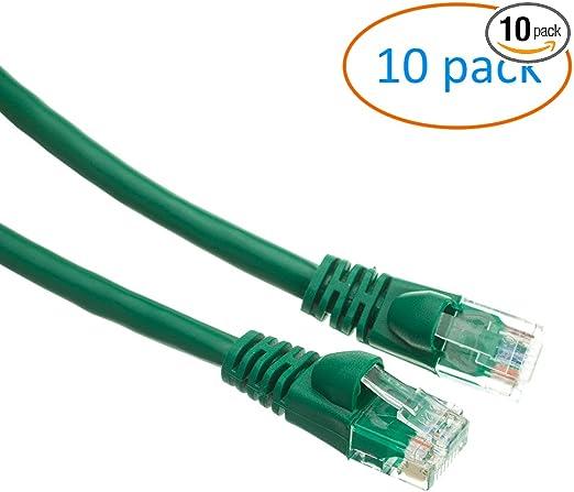 6ft Cat5e Cat5 Ethernet Network LAN Patch Cable Cord RJ45 10 Pack Lot black