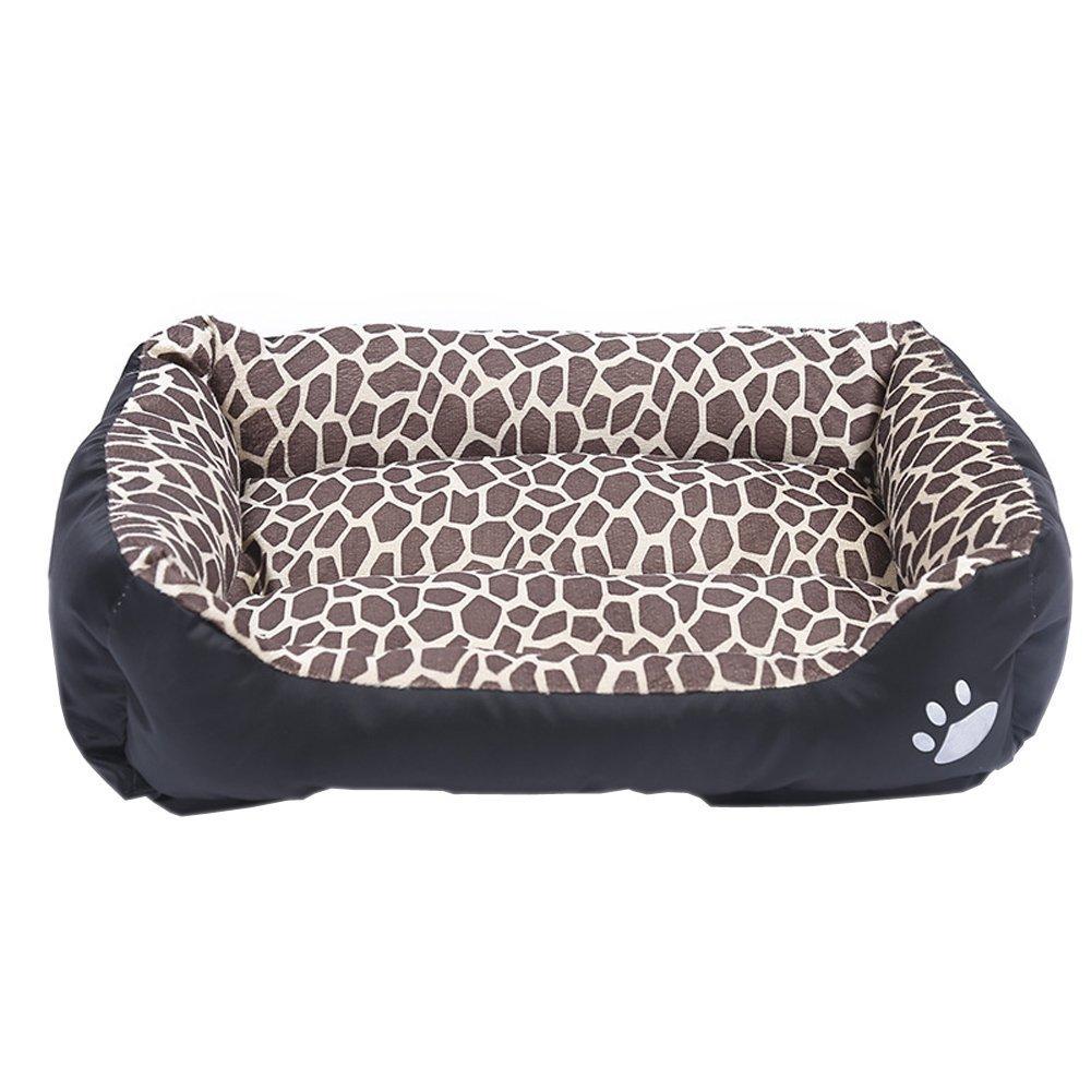 designer online LMKIJN Morbido Cuscino da Letto per Gatti Gatti Gatti con Cuscino per Il Letto del Gatto e Cuscino per Gatti (Leopard, M) per Il Tuo Animale  migliore offerta