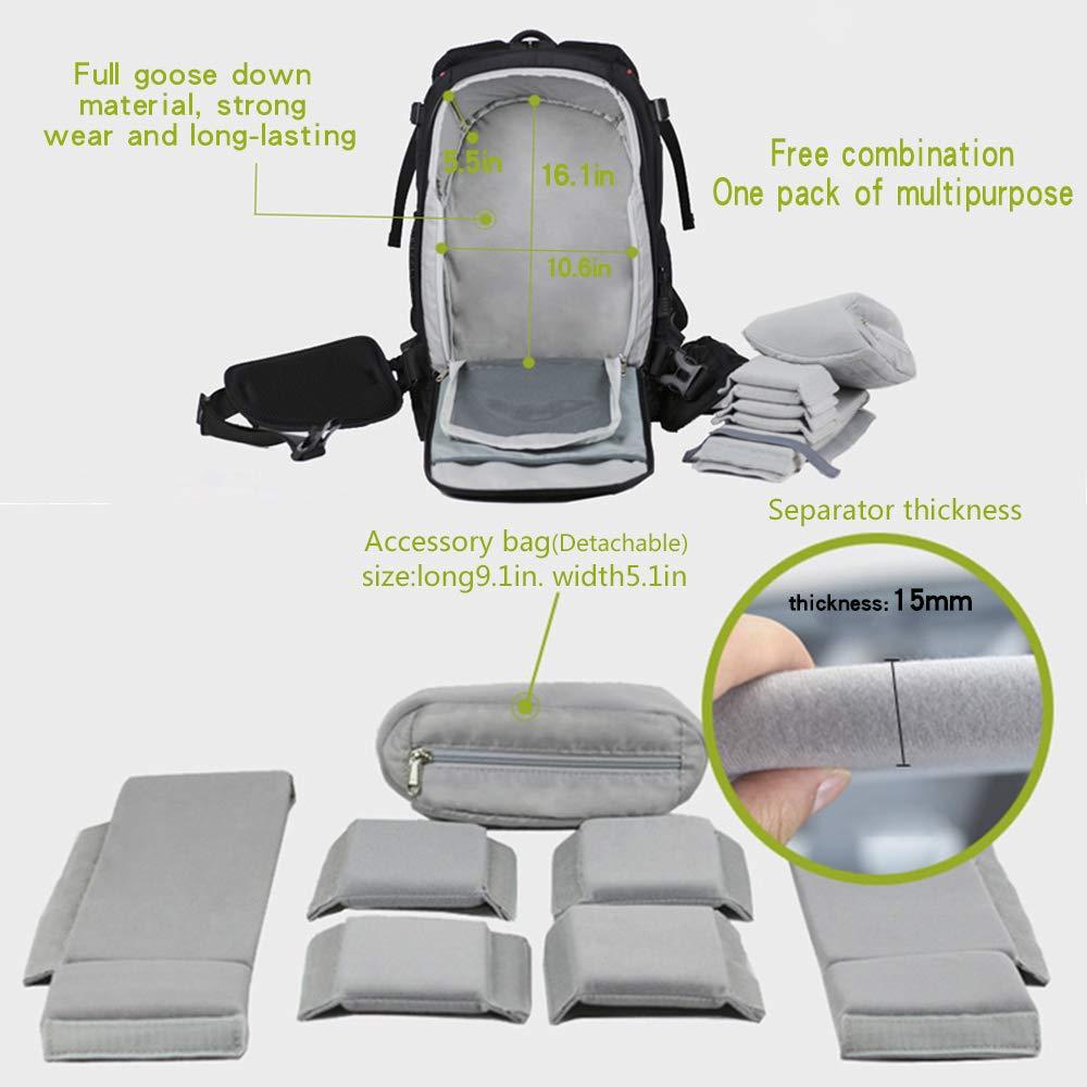 E-Bestar Waterproof Professional Men s DSLR Digital Camera   Lenses Case  Backpack 17 Inch Laptop Computer Bag Casual Leisure Daypack Outdoor Travel  Hiking ... 7b7a4cbc510ea
