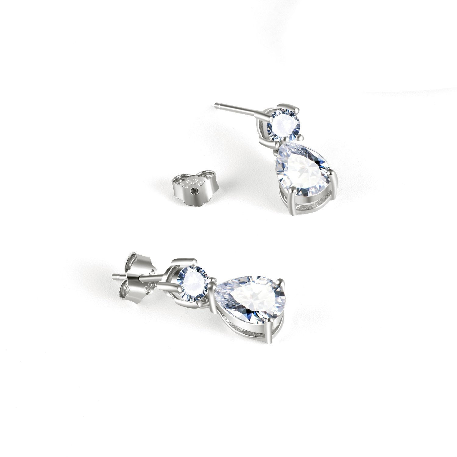 Small Dangle Earrings for Girls Jewelry Gifts Sterling Silver Cubic Zirconia Stud Earring