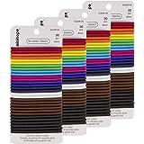 minihope no-metal girls elastic hair ties, girl's mixed color elastics, 4mm Hair elastics 120 Count,Value pack.…