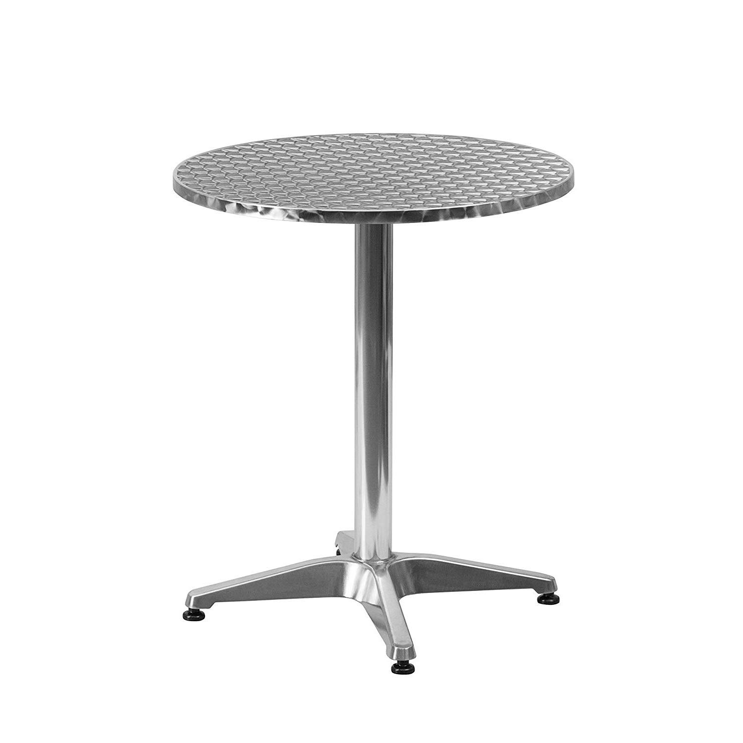 DK Furniture 23.5'' Round Aluminum Indoor-Outdoor Table with Base