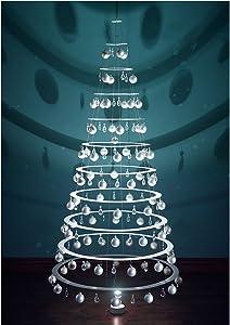 Modern Christmas Trees - 7.5' Hanging White Tree with Satin Bulbs