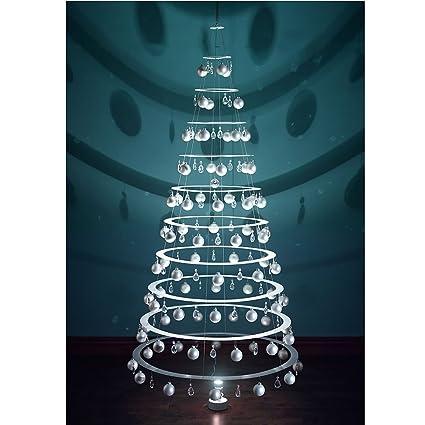 Modern Christmas Trees.Modern Christmas Trees 7 5 Hanging White Tree With Satin Bulbs