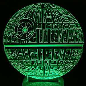The Force Awakens ! Multi-colored Death Star Table Lamp 3D Death Star Bulbing Light for Star Wars Fans