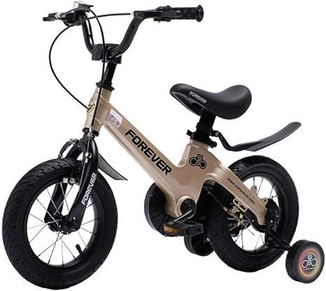 """Dsrgwe Bicicleta niño, Bicicletas niños, Bicicletas for niños, Bicicletas de aleación de magnesio Bastidor, Tamaño 12"""" 14"""" 16"""" Durante 3-10 años, con Ruedas de Entrenamiento y Mano de Frenos: Amazon.es: Deportes y aire libre"""