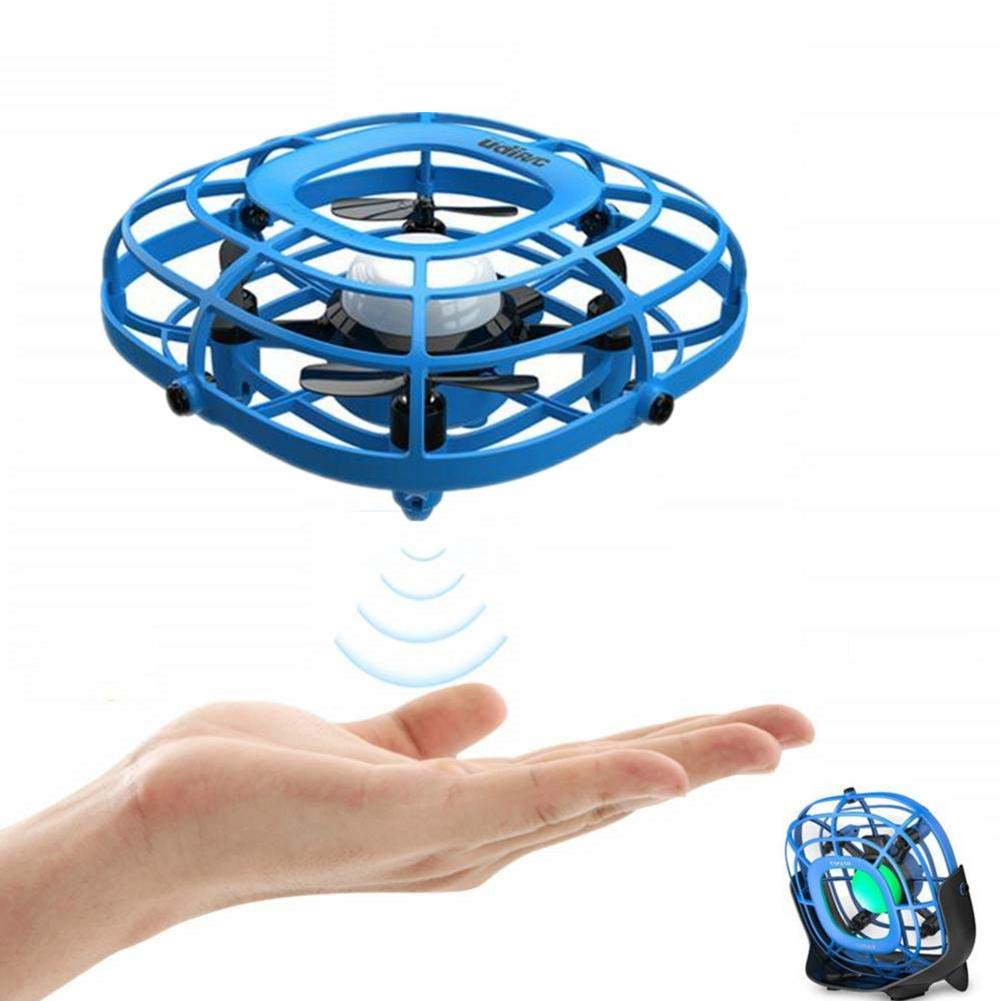 2-in-1 Hand Operated Drones and Desktop Fan for Kids or Adults, Creative Scoot Hands Free Mini Helicopter, Easy Indoor Intelligent Sensor Flying Ball Aircraft Toys for Boys or Girls