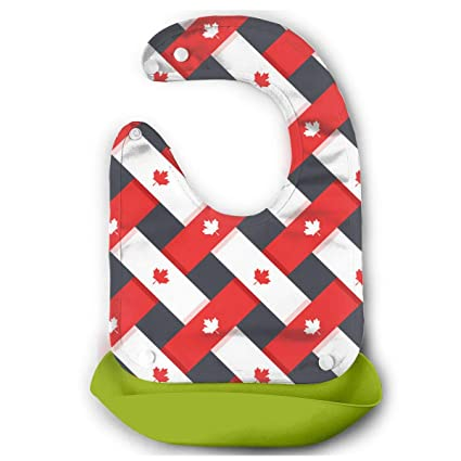 cc30e004478d Image Unavailable. Image not available for. Color  W3Zap1 Canada Waterproof Silicone  Baby Bibs ...