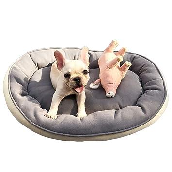 Authda Cama para Perros pequeños y medianos Lavable y no se deforma cojín de Cama para Perros con algodón PP Extra Suave para Interiores y Exteriores: ...