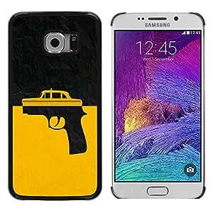 TECHCASE**Cubierta de la caja de protección la piel dura para el ** Samsung Galaxy S6 EDGE SM-G925 ** Taxi Gun Taxi Driver