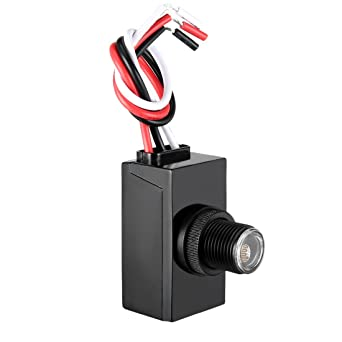 uxcell dusk dawn photo control photocell 120-277 v outdoor photocell light  sensor lighting switch: amazon com: industrial & scientific