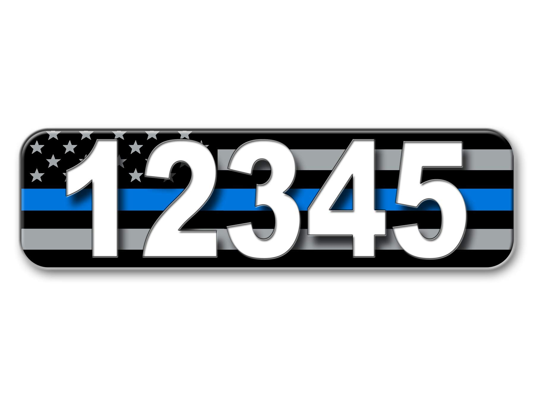 Thin Blue Line, Address Plaque, Reflective