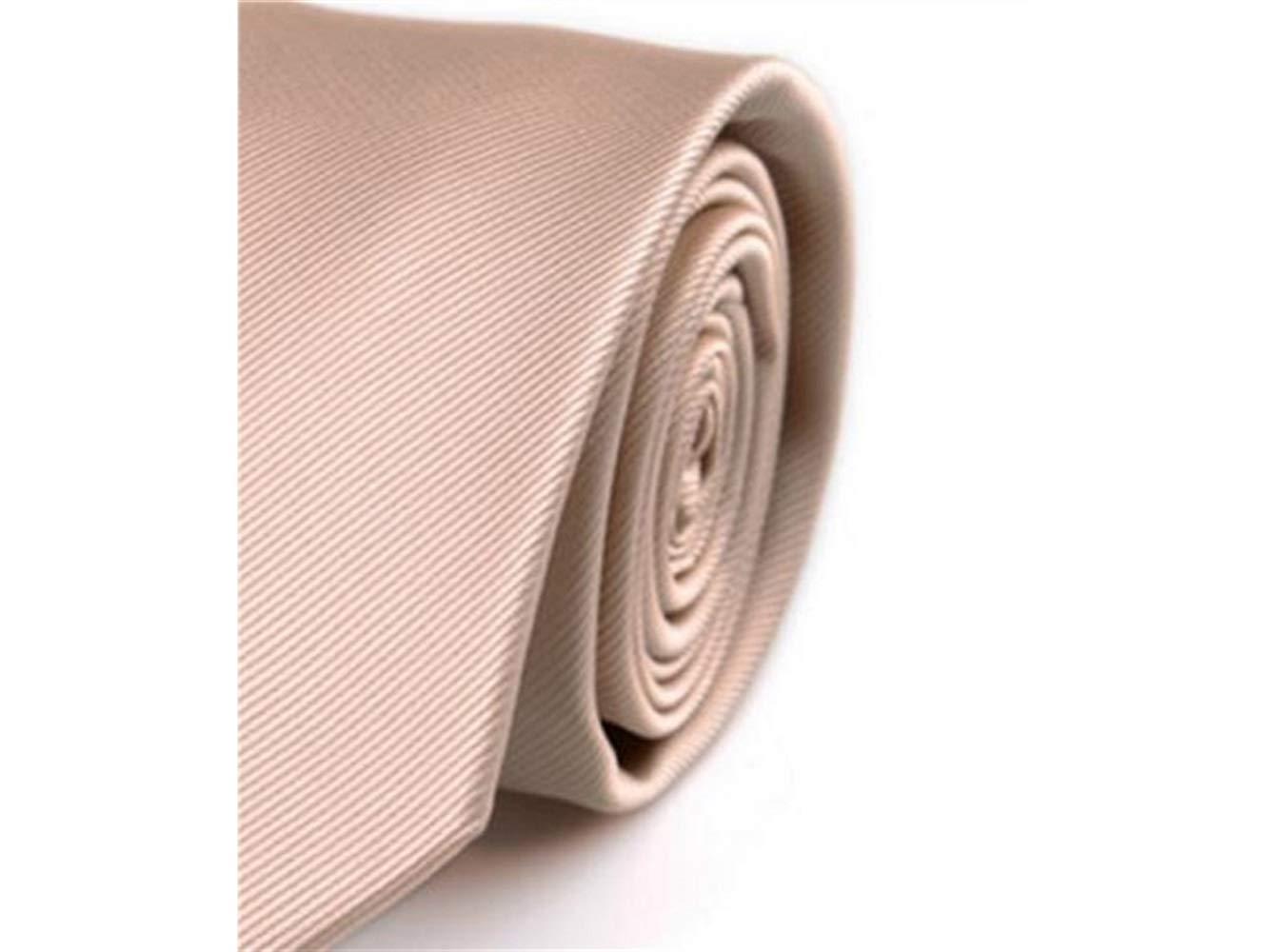 FERFERFERWON Corbata de Seda Corbata de Color sólido de los ...