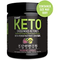Giant Keto - Exogenous Ketones Supplement - Beta-Hydroxybutyrate Keto Powder Designed to Support Your Ketogenic Diet, Boost Energy and Burn Fat in Ketosis - Raspberry Lemonade - 10 Servings